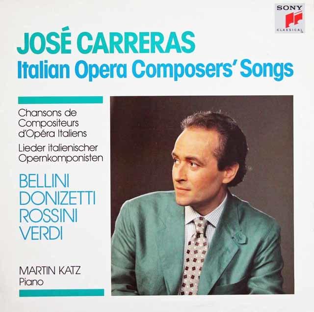 カレーラスのイタリア歌曲集  蘭CBS 3131 LP レコード