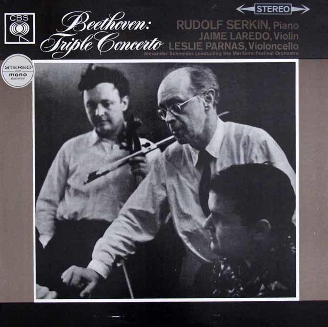 ゼルキンのベートーヴェン/三重協奏曲 英CBS 3131 LP レコード