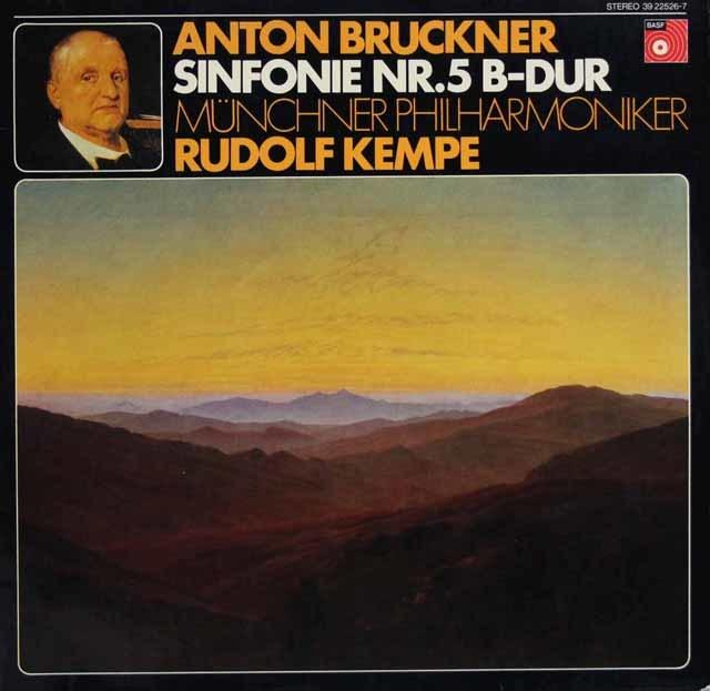 【オリジナル盤】ケンペのブルックナー/交響曲第5番 独BASF 3131 LP レコード