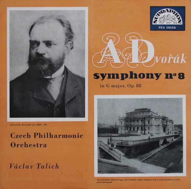 ターリヒのドヴォルザーク/交響曲第8番 チェコSUPRAPHON 3131 LP レコード