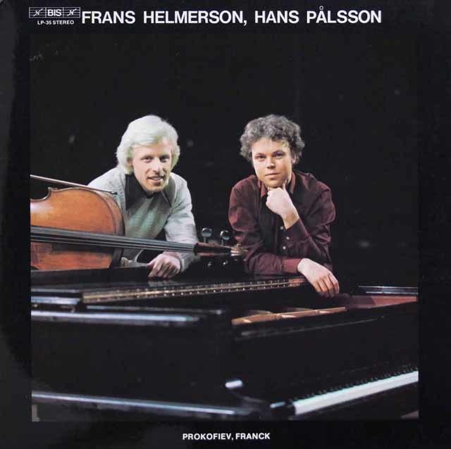ヘルメルソン、パルソンのプロコフィエフ&フランク/チェロ・ソナタ 独BIS 3131 LP レコード