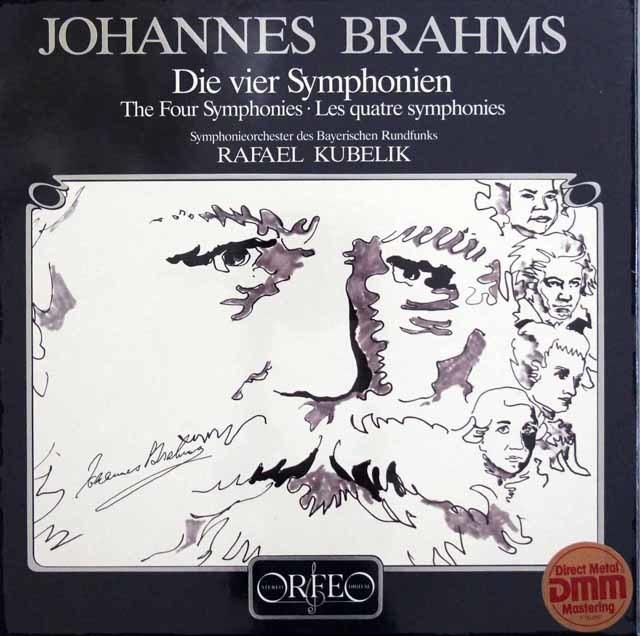 【未開封】クーベリックのブラームス/交響曲全集 独ORFEO 3131 LP レコード