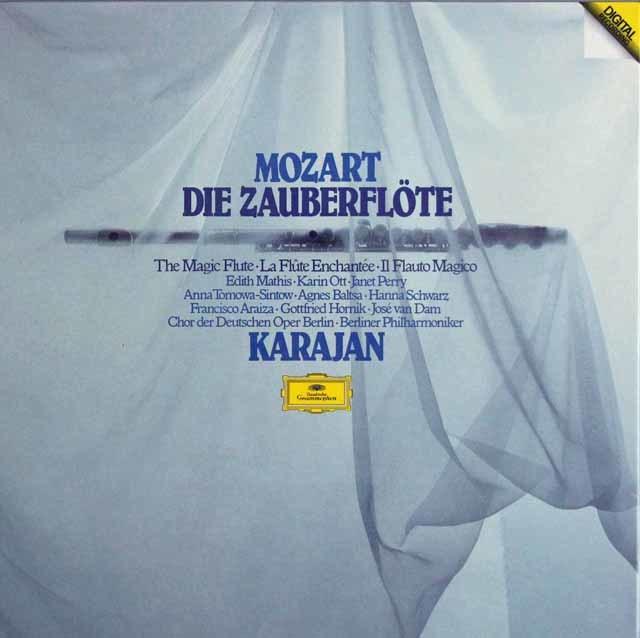 カラヤンのモーツァルト/「魔笛」全曲 独DGG 3131 LP レコード