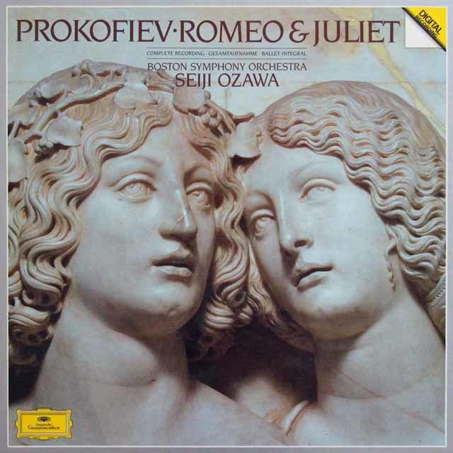 小澤のプロコフィエフ/バレエ音楽「ロメオとジュリエット」全曲 独DGG 3131 LP レコード