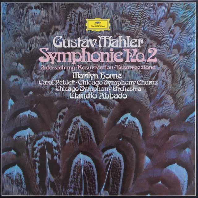 アバドのマーラー/交響曲第2番「復活」  独DGG 3131 LP レコード