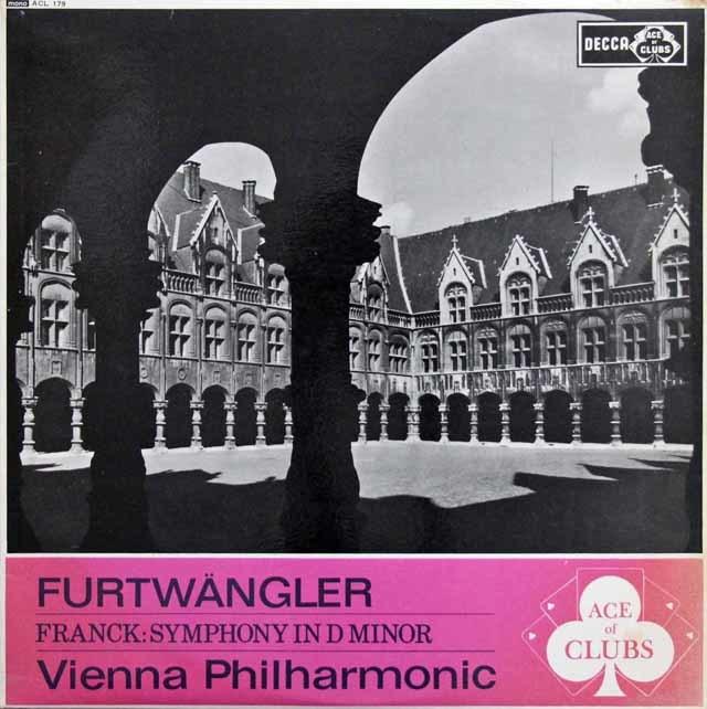 フルトヴェングラーのフランク/交響曲ニ短調 英DECCA (ACE of CLBS) 3132 LP レコード