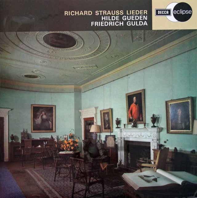 ギューデン&グルダのR.シュトラウス/歌曲集 英DECCA 3132 LP レコード