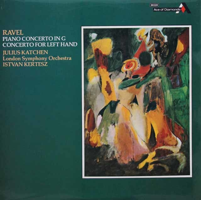 カッチェン&ケルテスのラヴェル/左手のための協奏曲ほか 英DECCA 3132 LP レコード