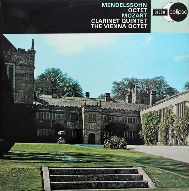 ウィーン・オクテットのメンデルスゾーン/弦楽八重奏曲 変ホ長調 英DECCA 3132 LP レコード