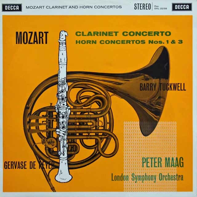 【オリジナル盤】 ドゥ・ペイエ、タックウェル&マークのモーツァルト/協奏曲集 英DECCA 3132 LP レコード