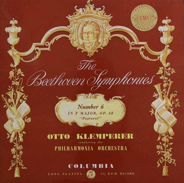 クレンペラーのベートーヴェン/交響曲第6番「田園」 英Columbia 3132 LP レコード