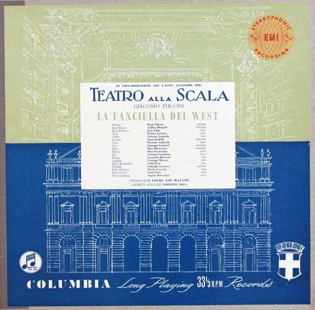 【オリジナル盤】 マタチッチのプッチーニ/「西部の娘」 英Columbia 3132 LP レコード