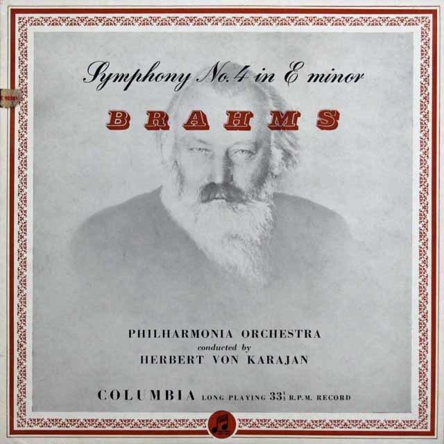 【オリジナル盤】 カラヤンのブラームス/交響曲第4番 英Columbia 3132 LP レコード