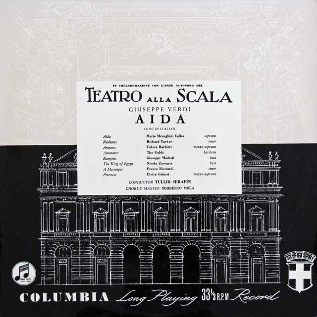 【オリジナル盤】カラス&セラフィンのヴェルディ/「アイーダ」全曲 英Columbia 3132 LP レコード