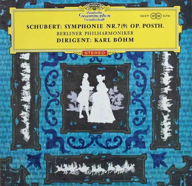 【赤ステレオ/ドイツ最初期盤】 ベームのシューベルト/交響曲第9番「グレイト」 独DGG 3132 LP レコード
