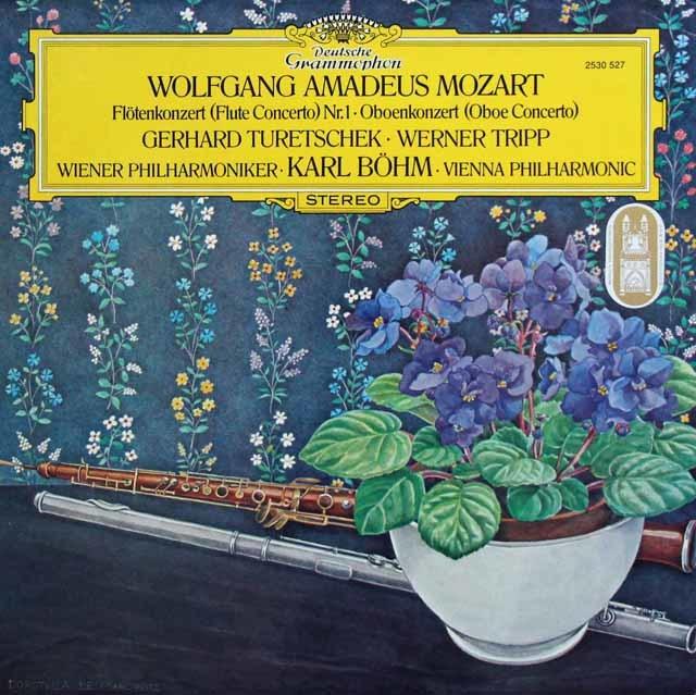 トレチェク、トリップ&ベームのモーツァルト/協奏曲集 独DGG 3132 LP レコード