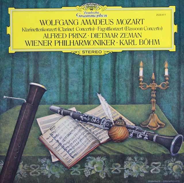 プリンツ&ベームのモーツァルト/クラリネット協奏曲ほか 独DGG 3132 LP レコード