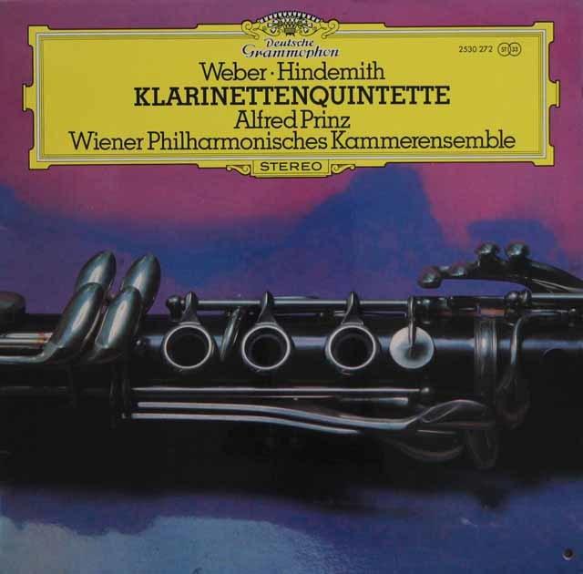 ウィーンフィル室内アンサンブルのウェーバー/クラリネット五重奏曲ほか 独DGG 3132 LP レコード