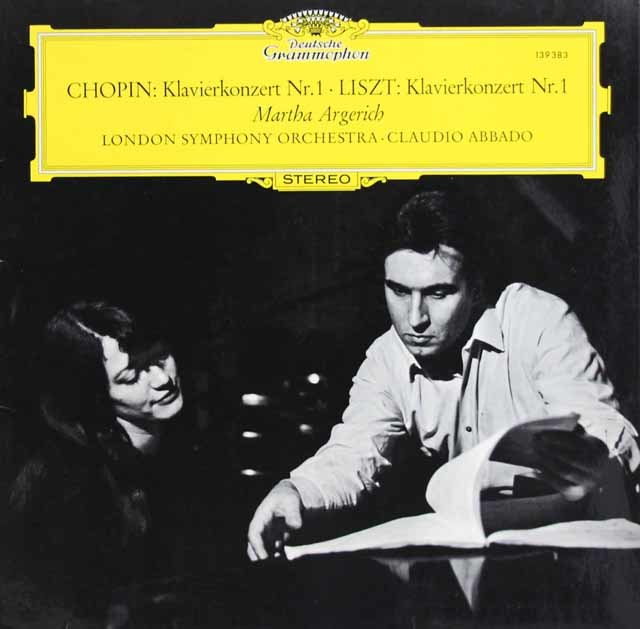 アルゲリッチ&アバドのショパン&リスト/ピアノ協奏曲集 独DGG 3132 LP レコード