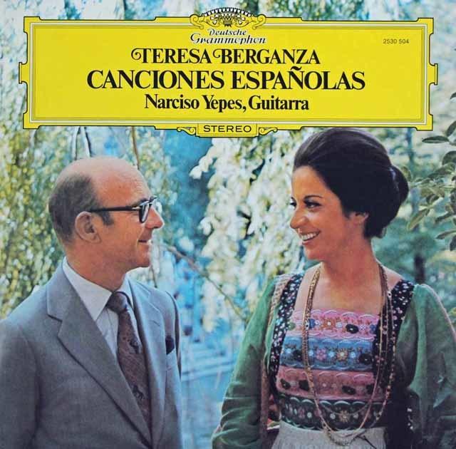 ベルガンサ&イエペスの「スペイン歌曲集」 独DGG 3132 LP レコード