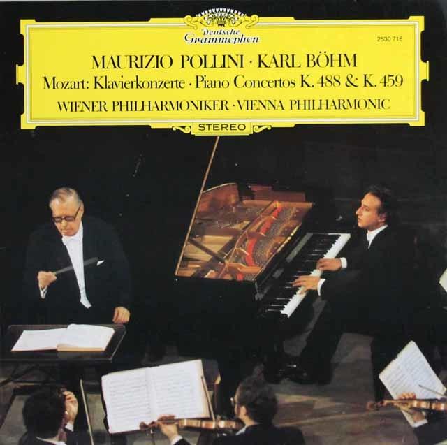 ポリーニ&ベームのモーツァルト/ピアノ協奏曲第19&23番 独DGG 3132 LP レコード
