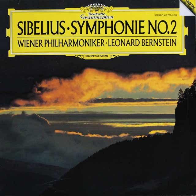 バーンスタインのシベリウス/交響曲第2番 独DGG 3132 LP レコード