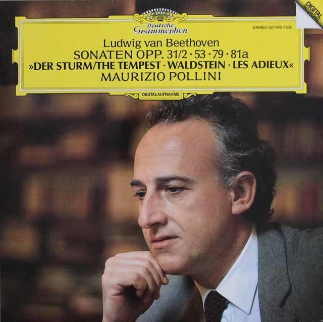 ポリーニのベートーヴェン/ピアノソナタ「テンペスト」、「ワルトシュタイン」&「告別」 独DGG 3132 LP レコード
