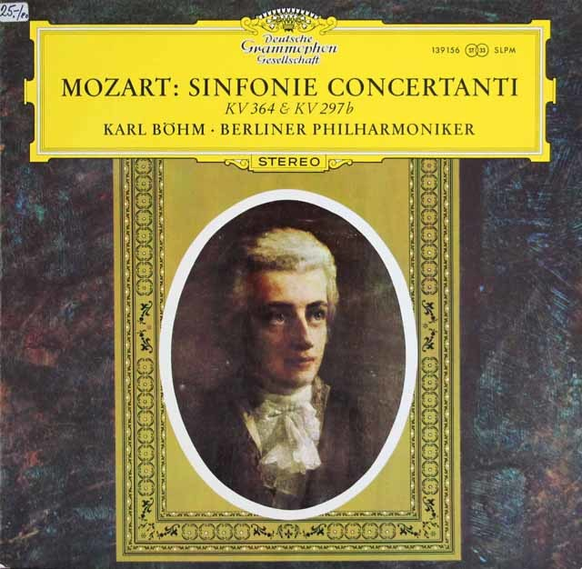 ベームのモーツァルト/協奏交響曲集 独DGG 3132 LP レコード