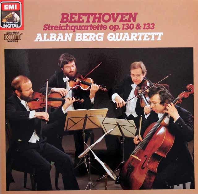 アルバン・ベルク四重奏団のベートーヴェン/弦楽四重奏曲第13番&大フーガ 独EMI 3132 LP レコード