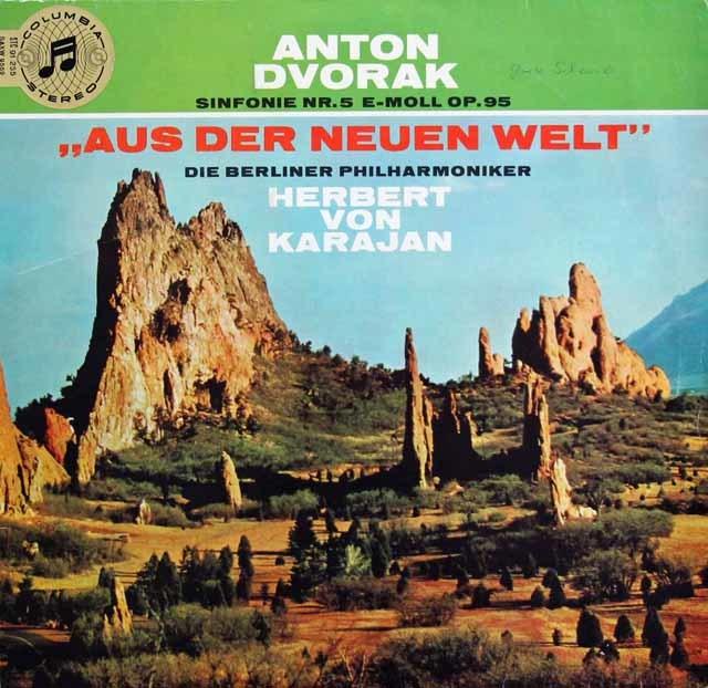【独最初期盤】カラヤンのドヴォルザーク/交響曲第9(5)番「新世界より」 独Columbia 3132 LP レコード