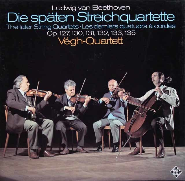 ヴェーグ四重奏団のベートーヴェン/後期弦楽四重奏曲集 独TELEFUNKEN 3132 LP レコード