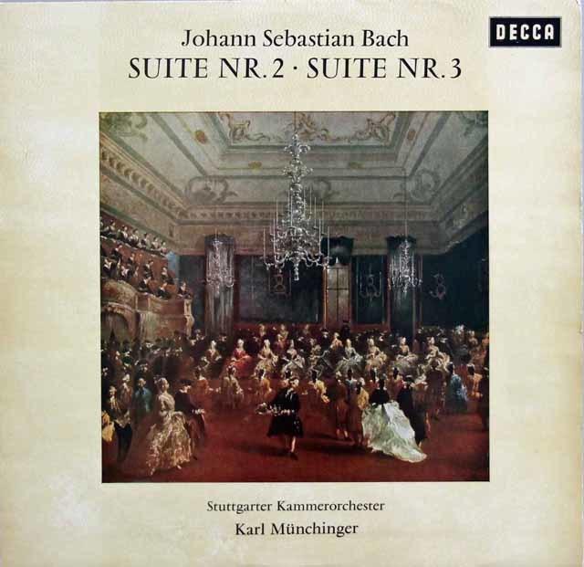 ミュンヒンガーのバッハ/管弦楽組曲第2、3番 独DECCA 3132 LP レコード