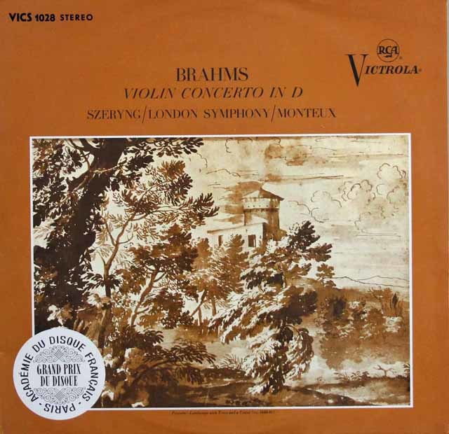 シェリング&モントゥーのブラームス/ヴァイオリン協奏曲 独RCA 3132 LP レコード