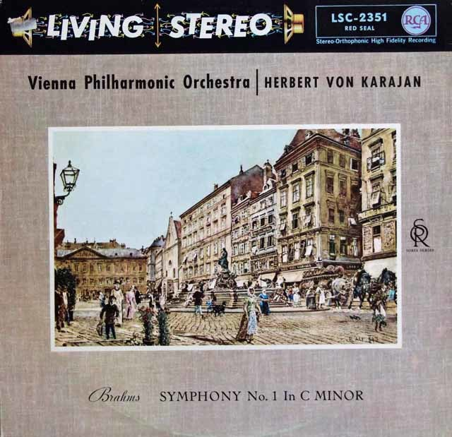 カラヤンのブラームス/交響曲第1番 独RCA 3132 LP レコード