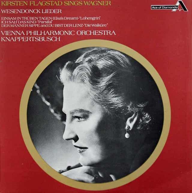 フラグスタート&クナッパーツブッシュのワーグナー/ヴェーゼンドンク歌曲集ほか 英Ace of Diamonds(DECCA)  3133 LP レコード