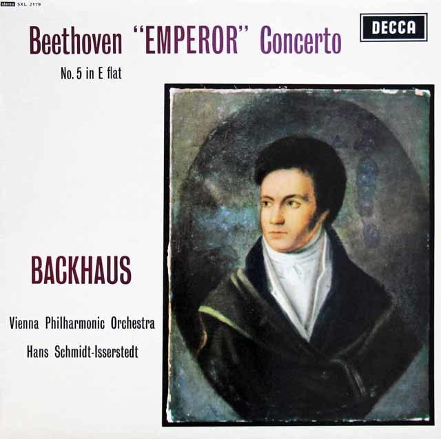 バックハウス&イッセルシュテットのベートーヴェン/ピアノ協奏曲第5番「皇帝」 英DECCA 3133 LP レコード