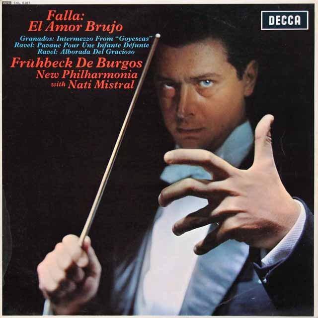 【オリジナル盤】デ・ブルゴスのファリャ/「恋は魔術師」ほか 英DECCA 3133 LP レコード