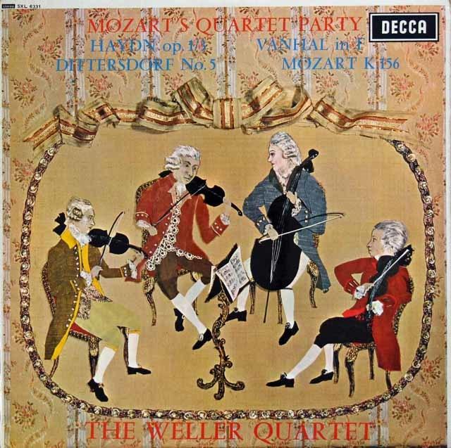 【オリジナル盤】ウェラー四重奏団の「モーツァルトのカルテット・パーティ」 英DECCA 3133 LP レコード