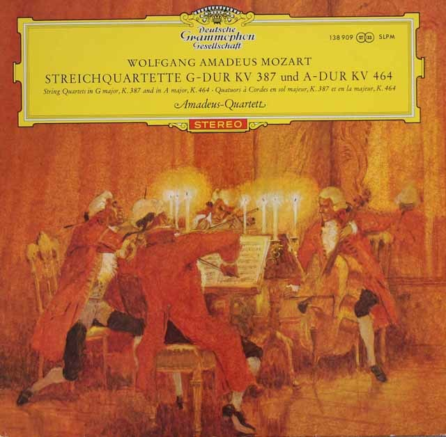 【赤ステレオ/オリジナル盤】アマデウス四重奏団のモーツァルト/弦楽四重奏曲第14&18番 独DGG 3133 LP レコード