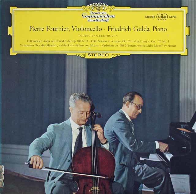 【独最初期盤】 フルニエ&グルダのベートーヴェン/チェロソナタ第3、4番ほか 独DGG 3133