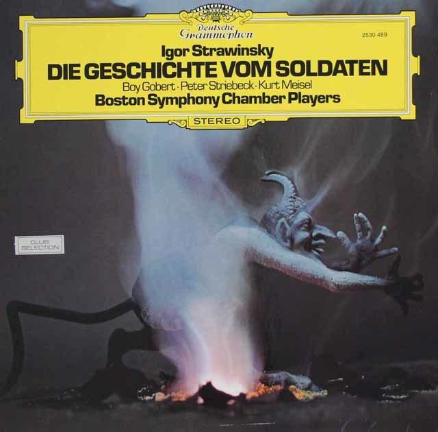 ボストン交響楽団チェンバー・アンサンブルのストラヴィンスキー/バレエ「兵士の物語」(独語版) 独DGG 3133 LP レコード
