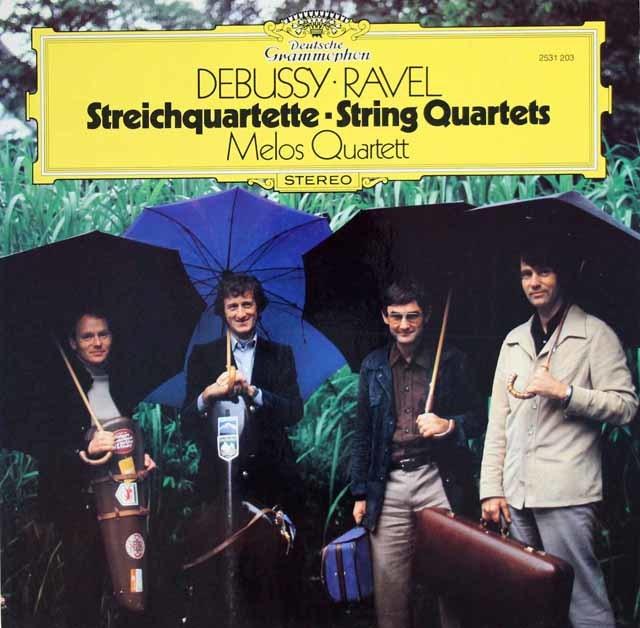 メロス四重奏団のドビュッシー&ラヴェル/弦楽四重奏曲 独DGG 3133 LP レコード