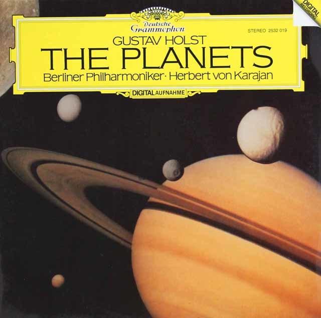 カラヤンのホルスト/組曲「惑星」 独DGG 3133 LP レコード