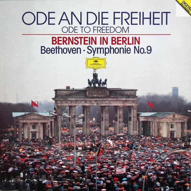 バーンスタインのベートーヴェン/交響曲第9番「合唱付き」[ベルリンの壁解放記念コンサート] 独DGG 3133 LP レコード