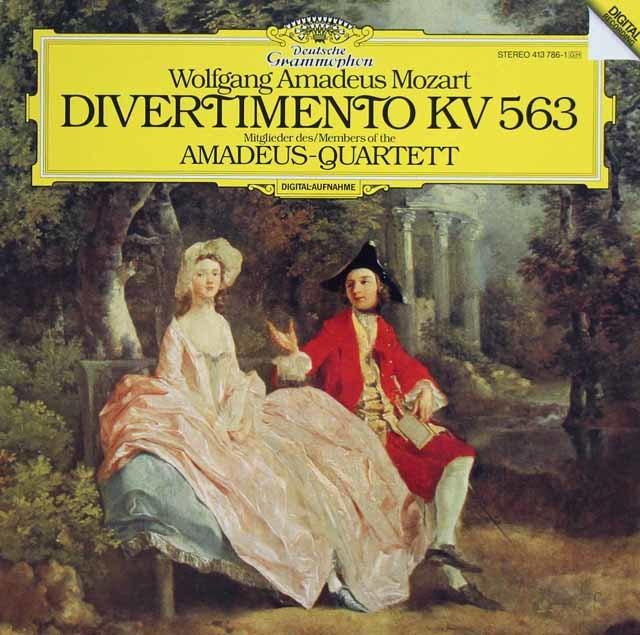 アマデウス四重奏団のモーツァルト/弦楽三重奏のためのディヴェルティメント 独DGG 3133 LP レコード