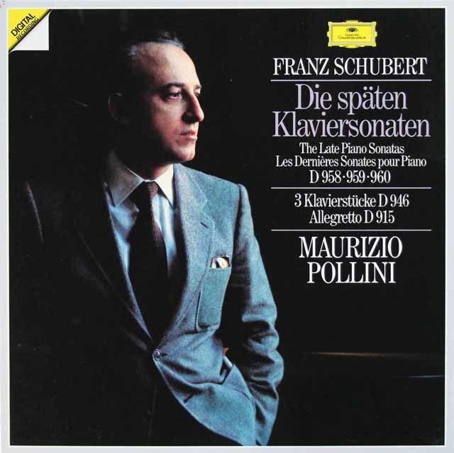 ポリーニのシューベルト/後期ピアノソナタ集 独DGG 3133 LP レコード