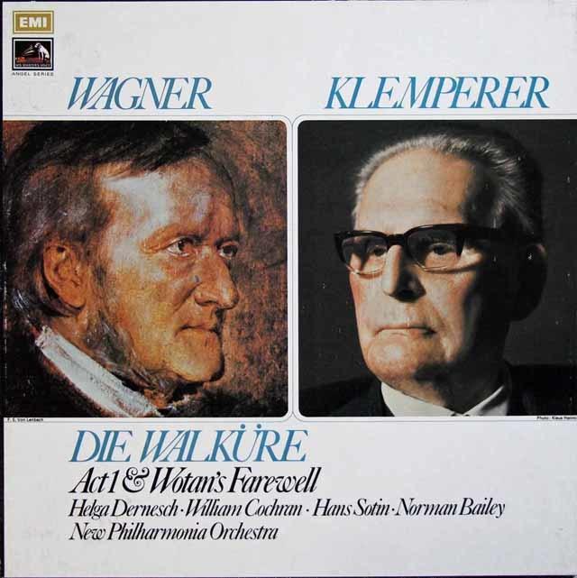 【オリジナル盤】クレンペラーのワーグナー/「ワルキューレ」第1幕ほか 英EMI 3133 LP レコード