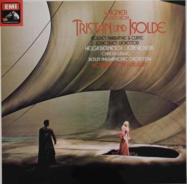 カラヤンのワーグナー/「トリスタンとイゾルデ」(抜粋) 英EMI 3133 LP レコード