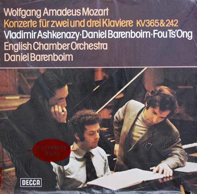 【未開封】バレンボイム&アシュケナージらのモーツァルト/2台のピアノのための協奏曲ほか 独DECCA 3133 LP レコード