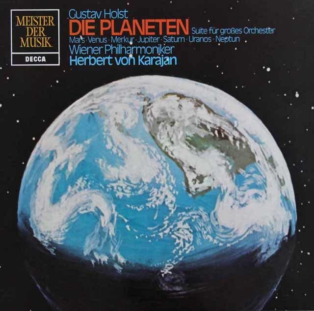 カラヤンのホルスト/「惑星」 独DECCA 3133 LP レコード